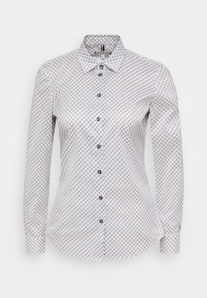 BRITTANY SLIM PRINT - Button-down blouse - white/desert sky