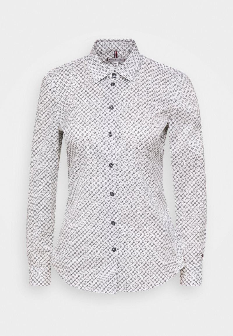 Tommy Hilfiger - BRITTANY SLIM PRINT - Button-down blouse - white/desert sky