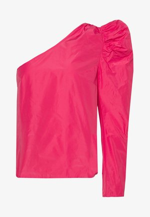 TAFFETA ONE SHOULDER - Blusa - hot pink