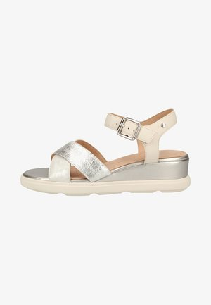 Ankle cuff sandals - silver
