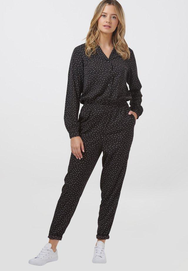 CLEO PETAL SPOT - Jumpsuit - black