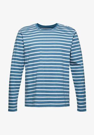 MIT STREIFEN - Long sleeved top - petrol blue