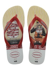 Havaianas - TOP NARUTO - Pool shoes - white, red - 2