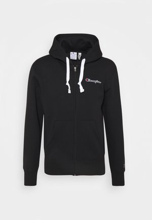 HOODED FULL ZIP - Zip-up sweatshirt - black