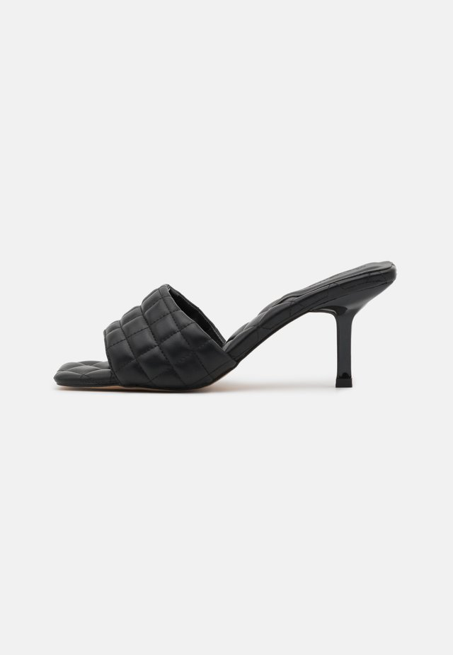 SLEEK - Heeled mules - black
