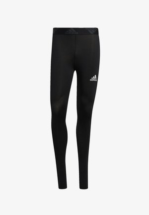 TECHFIT 3-STRIPES LONG TIGHTS - Leggings - black