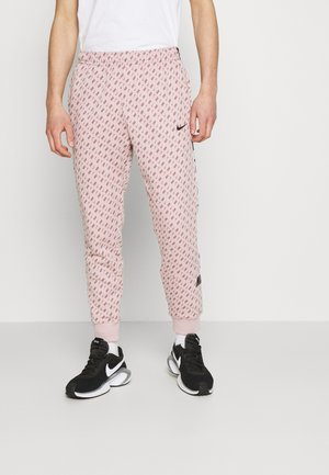REPEAT PRINT - Tracksuit bottoms - champagne/smokey mauve/black
