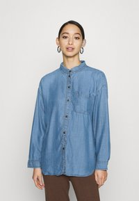 American Eagle - CORE BUTTONDOWN - Button-down blouse - blue - 0