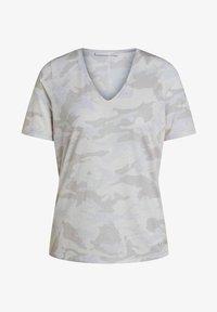 Oui - Print T-shirt - white black - 4