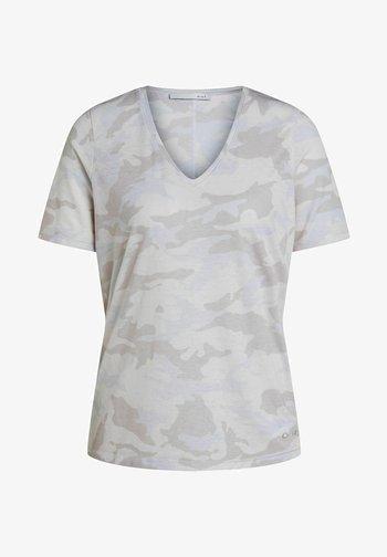 Print T-shirt - white black