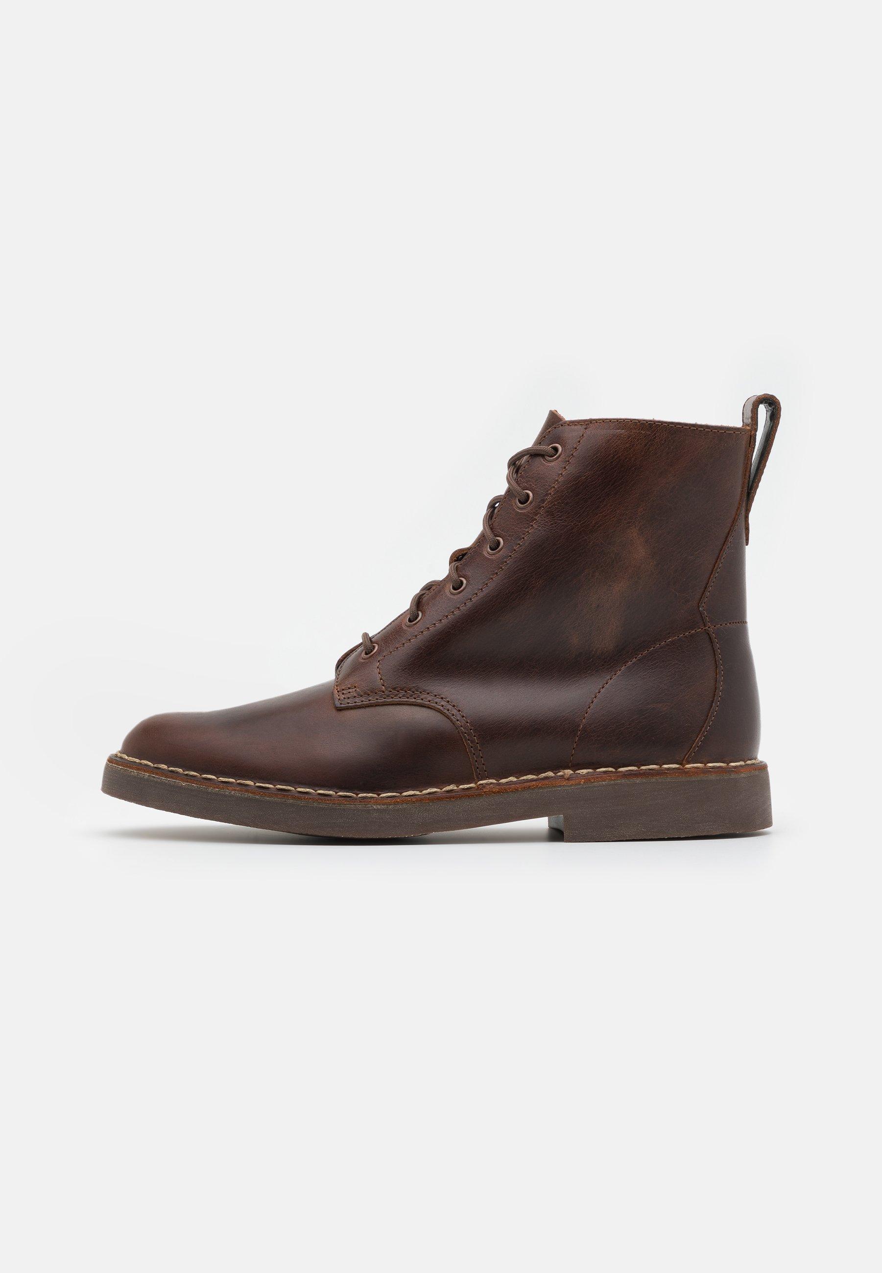 Men DESERT CALI - Lace-up ankle boots - dark tan