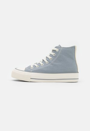 VEGAN BRITT RETRO  - High-top trainers - dusty blue