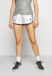 adidas Performance - CLUB SHORT - Krótkie spodenki sportowe - white - 0