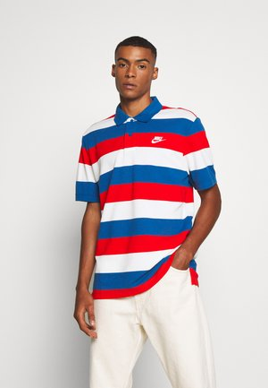 MATCHUP STRIPE - Polo shirt - industrial blue/white