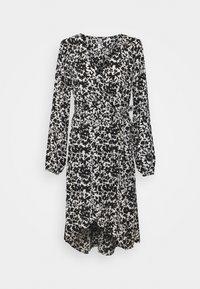 JDY - JDYROXANNE WRAP DRESS - Day dress - white/black - 4
