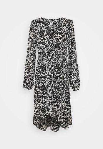 JDYROXANNE WRAP DRESS - Vestito estivo - white/black