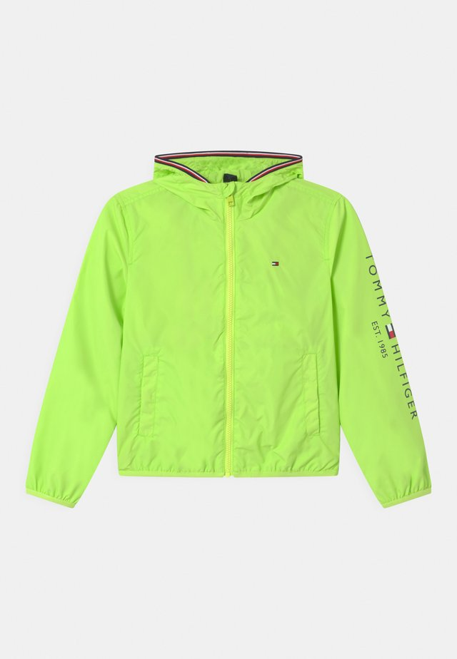 ESSENTIAL HOODED LOGO - Sportovní bunda - sour lime