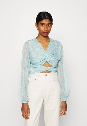 KNOT DETAILED CREPE - Blouse - marble print