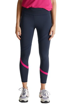 ACTIVE MIT E DRY - Tights - navy