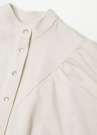Mango - Vestido camisero - ecru - 6