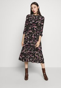 Lauren Ralph Lauren Petite - FELIA SLEEVE DAY DRESS - Sukienka z dżerseju - black/multi - 0