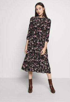 FELIA SLEEVE DAY DRESS - Jersey dress - black/multi