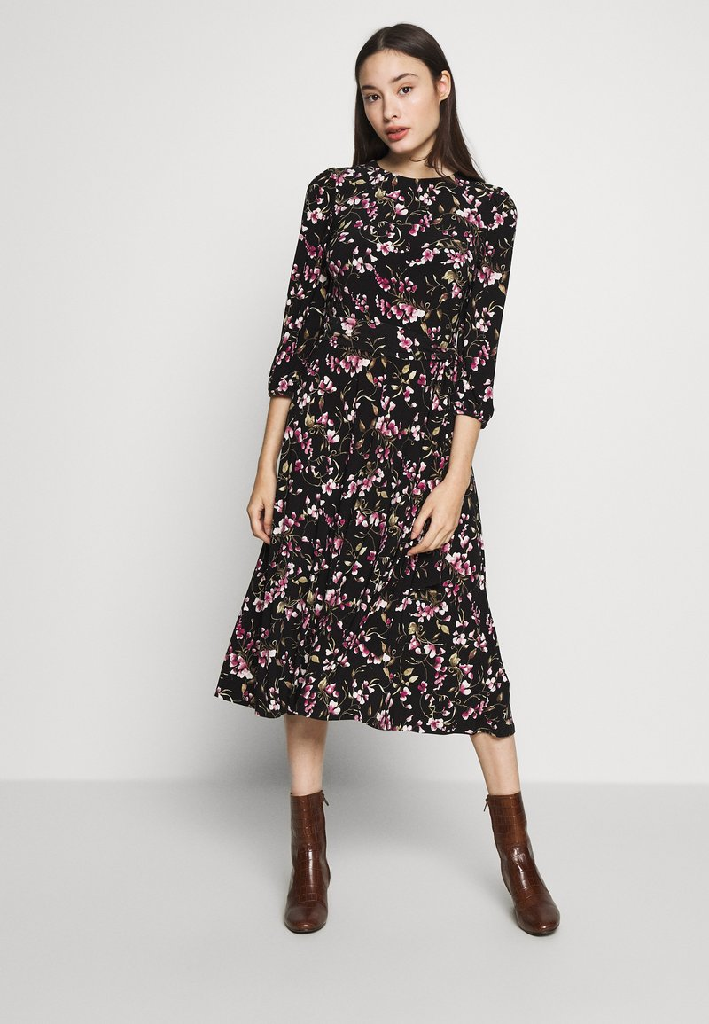 Lauren Ralph Lauren Petite - FELIA SLEEVE DAY DRESS - Sukienka z dżerseju - black/multi
