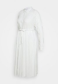 Mamalicious Curve - MLALANYA MIDI DRESS - Shirt dress - snow white/crown blue - 0