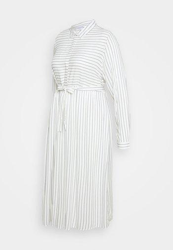 MLALANYA MIDI DRESS - Shirt dress - snow white/crown blue