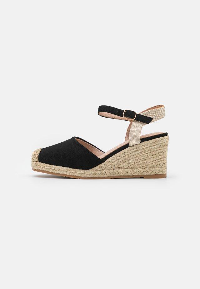 Wedge sandals - nero