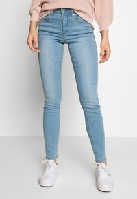 Vero Moda - VMTANYA PIPING - Slim fit jeans - light blue denim - 0