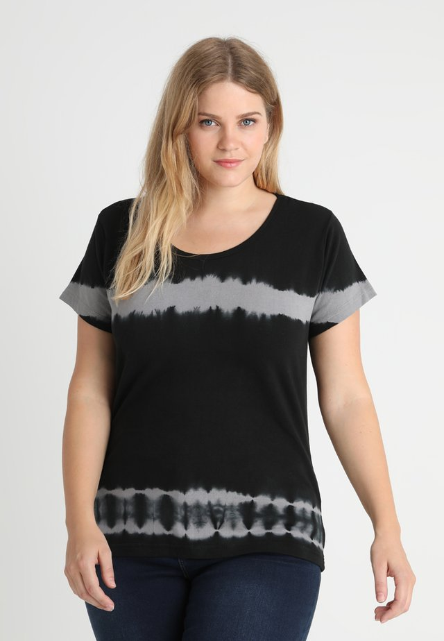 LADIES STRIPED TEE - T-shirt print - black/lightgrey