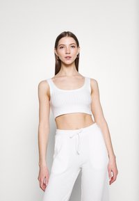 Topshop - COSY BRUSHED SET - Tracksuit bottoms - winter white - 2