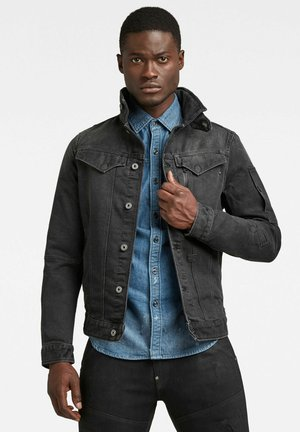 Denim jacket - faded charcoal wp