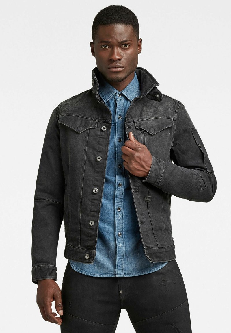 G-Star - CITISHIELD SLIM JACKET - Spijkerjas - faded charcoal wp