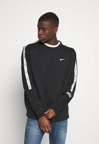 Nike Sportswear - REPEAT CREW - Sweatshirt - black/silver - 0