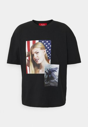 SPIRIT DOUBLE DOLPHIN ROE ETHRIDGE - T-shirt con stampa - black