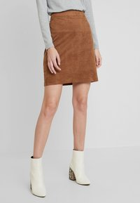 Esprit - MINI SKIRT - A-line skirt - toffee - 0