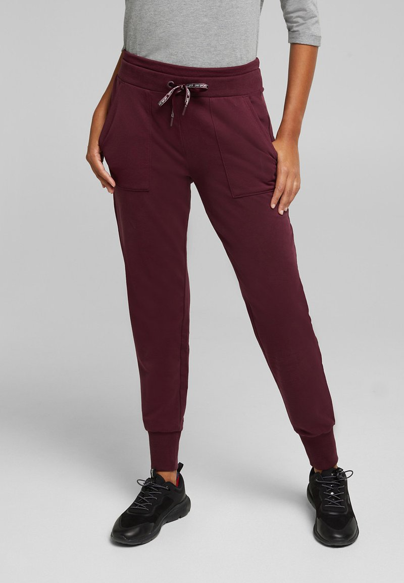 Esprit Sports - Tracksuit bottoms - bordeaux red