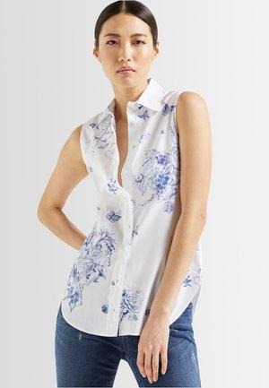 M-BARRY-PXSV - Button-down blouse - weiß blau