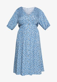 Cotton On Curve - CURVE WOVEN PUFF SLEEVE MIDI DRESS - Sukienka koszulowa - daisy parisian blue - 4