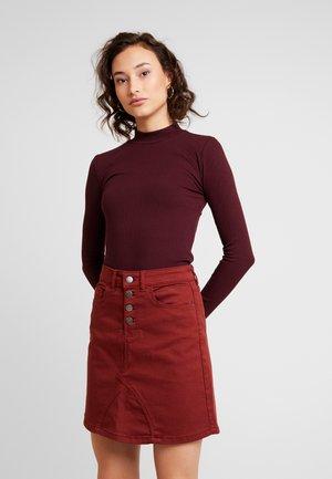 JDYLARA BUTTON SKIRT - A-line skirt - smoked