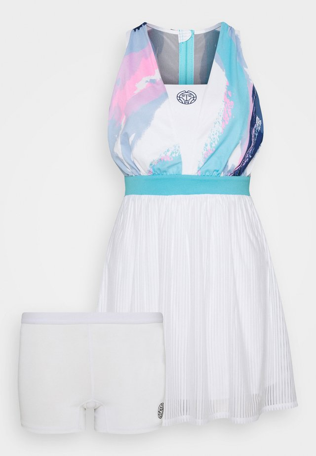 ANKEA TECH DRESS - Sportklänning - white/aqua