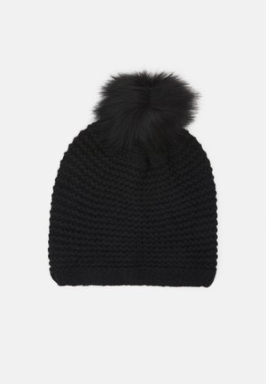 STITCH BEANIE POM - Berretto - black