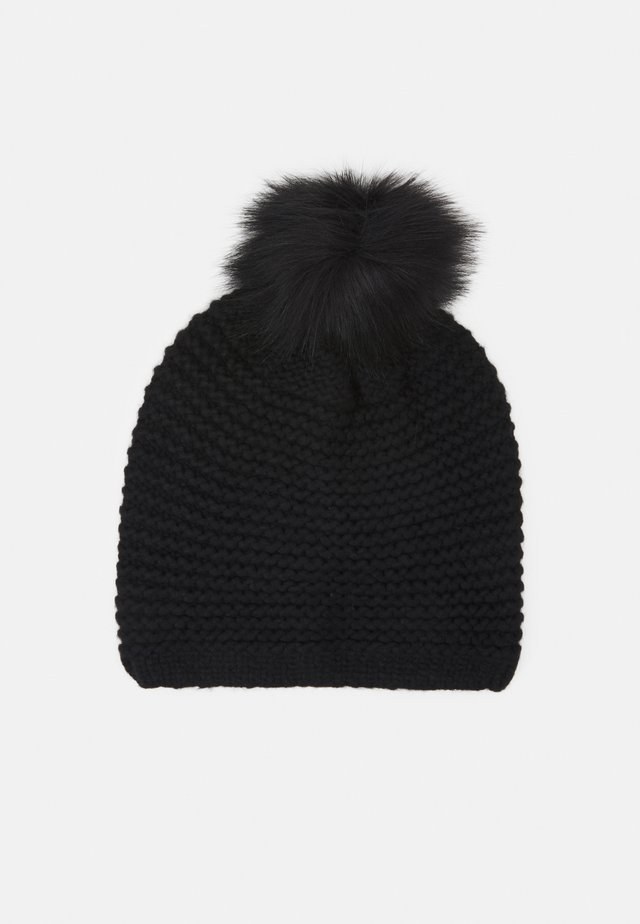 STITCH BEANIE POM - Bonnet - black