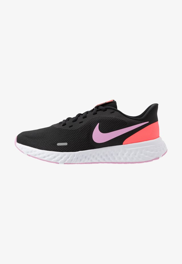 REVOLUTION 5 - Neutral running shoes - black/beyond pink/flash crimson