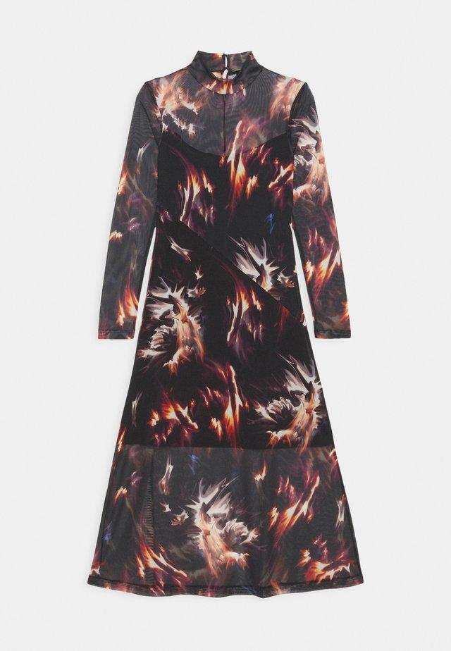 HANNA FLAMES DRESS - Kjole - black