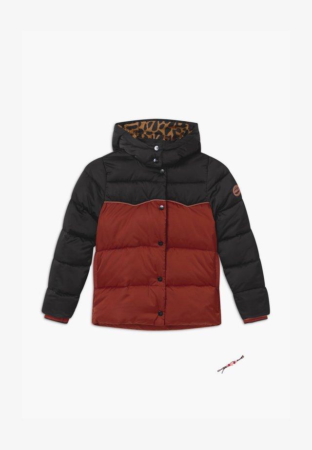 SHORT LENGTH PADDED - Winter jacket - black/copper