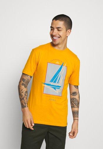 BOAT 2 PACK - T-shirt med print - navy/mustard