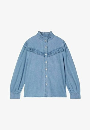 RÜSCHENKRAGEN - Button-down blouse - light blue denim